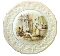 """Vintage 1930's 10.5"""" Plate Crown Ducal Florentine Mr Pickwick's Quandary"""