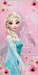 Disney Frozen Elsa Girls Kids Bath Beach Pool Towel Cotton 140 x 70 cm Gift