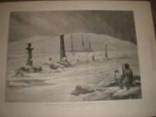 American Franklin Search Expedition graves of his comrades 1881 print ref AT