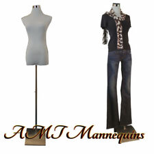 Female mannequin for pants, dress form+2 nylon covers, white torso-F-5