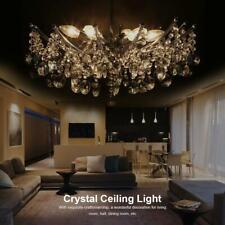 Moderne Fer k9 cristal lustre plafond lumière pendentif lampe chrome 35X20cm