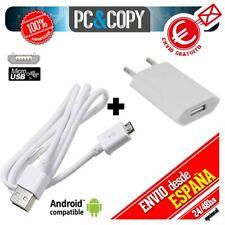 S560 Cargador USB de pared con cable para ANDROID movil tablet smartphone blanco