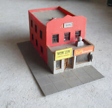 Vintage HO Scale Tyco Chinese Laundry and Barber Shop Corner Stores Building