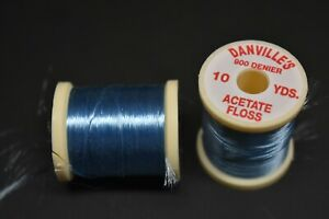 1 Spool, # 82  COPENHAGEN BLUE  Danville's Acetate Floss, 900 Denier, 10 yards