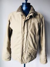 Abercrombie and Fitch Adirondack Jacket Tan Distressed Mens Size Medium