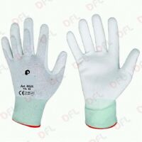 NWneri guanti da lavoro flexy piuma in filato elastico poliuretano tg 8 bianco