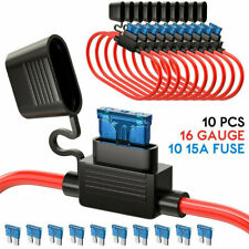 6 Pack 30A Automotive//Marine Weatherproof Blade Style ATO//ATC Fuse Holder with Cover 12 AWG