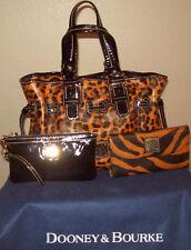 Dooney & Bourke Cheetah Leopard Ocelot Patent Leather Purse Wristlet Wallet Set