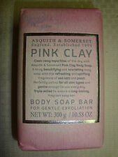New Asquith & Somerset Made in Portugal 10.58oz/300g Bath Bar Soap Pink Clay