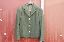 ROOBEDO veste femme harris tweed vert profond taille uk 12 de abs magnifique... hooker