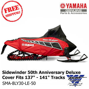 """Yamaha OEM Sidewinder 50TH Rd/Blk Deluxe Snowmobile Cover Fits 137""""-141"""" Tracks"""