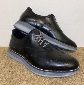 Cole Haan ØriginalGrand Ultra Wingtip Oxford Size 11 W C32064 Black Leather