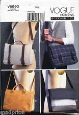 VOGUE SEWING PATTERN 8990 LINED MESSENGER BAGS IN FOUR STYLES W/ INSIDE POCKETS