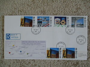 1987 ARCHITECTS GPO FIRST DAY COVER, IPSWICH CDS CANCELLATION