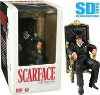 SCARFACE Al Pacino Tony Montana sul Trono Statuetta Action Figure Movie Icons