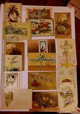 EASTER POSTCARDS LOT OF 18 MIXED LOT USED UNUSED