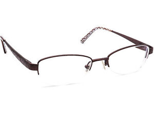 Coach Women's Eyeglasses Dana Coffee Brown Half Rim Metal Frame 48[]17 135