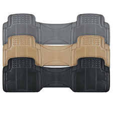 All Season Rear Rubber Car Floor Liner - Trimmable Full Row Runner Mat