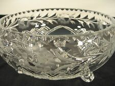 Cut Crystal Large Footed Bowl
