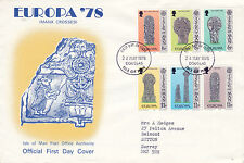 Iom 24 May 1978 Manx Crosses Official First Day Cover Douglas Fdi b