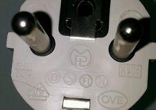ANSCHLUSSKABEL SPIRALKABEL WENDELLEITUNG KABEL 230V weiß oder rot mit Stecker