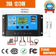 Digital LCD Solar Regler 2 USB Laderegler Controller Regulator 12V / 24V 20A
