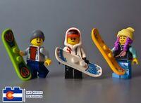 Lego Snowboard Minifigures Snow Board Mountain Winter Sports Ski Resort Mountain