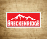"Ski Breckenridge Colorado Decal Sticker 3.75"" x 1.75"" Skiing Snowboarding Breck"