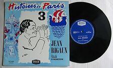 CH KIFFER - JEAN RIGAUX (LP 33T 25cm) HISTOIRES DE PARIS N°3