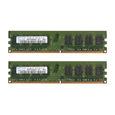 4GB 2x 2GB PC2-6400 DDR2 800Mhz 240Pin Low Density Desktop Memory For Samsung