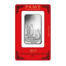 Silberbarren 1 Unze Pamp Suisse Schwein PIG 999 Feinsilber 1 oz silverbar Lunar