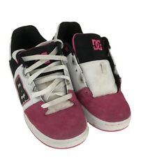 DC Girls Youth Pink/ Black/ White Turbo Skateboarding Sneakers Shoes Size 6