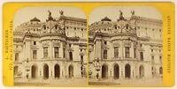 Parigi Opera Garnier Francia Foto Stereo PL55L4n Vintage Albumina c1880