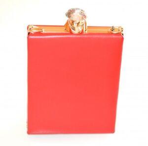 BOLSA pochette mujer rojo oro clutch bag cristal cerimonia elegante fiesta E120