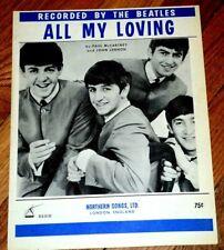 Beatles - All My Loving - RARE Vintage Sheet Music Mint!