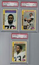 1978 Topps Dallas Cowboys Staubach #290, Dorsett #315 ,Martin #110 PSA 8 (GER)