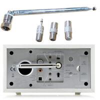 F Type Male Telescopic Aerial Antenna 75 Ohm w/ 3.5 Adapter For Radio TV FM