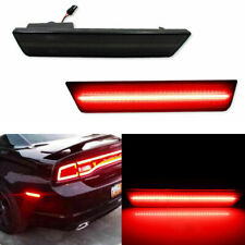 Smoked Black Lens Red Rear Side Marker LED Lights For 2008-2014 Dodge Challenger