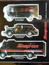 SNAP-ON VEHICLE 3 PIECE COLLECTORS SET:MT 55 FREIGHTLINER FORD SEDAN DIVCO BNIB
