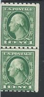 ORLEY  STAMPS US Genuine Coil Line Pair: Scott #410 1c OG XF NH $160