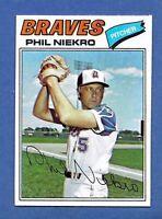 1977 Topps Phil Niekro Atlanta Braves #615 MINT Condition & Well Centered!