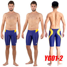 HXBY YG01-2 MEN'S COMPETITION TRAINING RACING JAMMERS SWIMMING TRUNKS 2XL SIZE32
