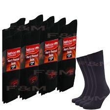37f61c256b80d Ultimate 12 Pairs Mens Thermal Socks Thick Warm Work Boot Black Socks Size 6 -11
