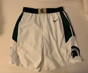 Nike Michigan State authentic basketball shorts game worn Home