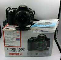 Fotocamera Canon EOS 400D reflex digitale + obiettivo 18-55 + scatola + 2GB