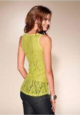 Ärmellose Taillenlang Damenblusen,-Tops & -Shirts mit Baumwollmischung ohne Mehrstückpackung
