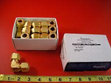 "Swagelok B-810-9 Lot of (10) Tube Fitting Union Elbow 1/2"" Tube OD Brass B8109"