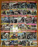 12x Custombike 2013 komplett Zeitschrift Motorrad Harley Shopper Yamaha