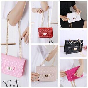 Women Fraux Patent Leather Handbag Ladies Evening Party Prom Smart Clutch Bag
