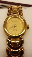 BRAND NEW IN BOX WITTNAUER AUTHENTIC WOMEN QUARTZ WATCH GOLD PLATED BAND